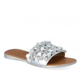 Srebrne klapki z perłami