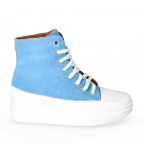 Błękitne sneakersy Modena