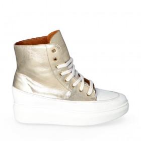 Złote sneakersy Modena
